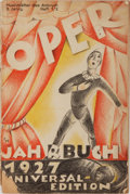 Books:Music & Sheet Music, [Opera]. Oper. [N.p.]: Musikblatter Des Anbruch, 1927.Octavo. Original printed wrappers. Wrappers worn, spine heavi...