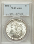 Morgan Dollars: , 1890-O $1 MS64 PCGS. PCGS Population (3308/474). NGC Census:(2730/190). Mintage: 10,701,000. Numismedia Wsl. Price for pro...