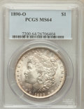 Morgan Dollars: , 1890-O $1 MS64 PCGS. PCGS Population (3298/473). NGC Census:(2729/190). Mintage: 10,701,000. Numismedia Wsl. Price for pro...