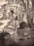 Mainstream Illustration, HARRISON CADY (American, 1877-1970). Peter Cottontail, interiorbook illustration. Pen and ink wash on board. 12.25 x 9....