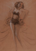 Pin-up and Glamour Art, ROLF ARMSTRONG (American, 1889-1960). Study of a Pin-Up.Charcoal on paper. 34.25 x 24.25 in. (image). Not signed. ...