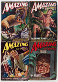 Pulps:Science Fiction, Amazing Stories Box Lot (Ziff-Davis, 1949-52) Condition: AverageVG....