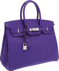 Luxury Accessories:Bags, Hermes 35cm Crocus Epsom Leather Birkin Bag with PalladiumHardware. ...