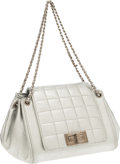 Luxury Accessories:Bags, Chanel Metallic Silver Leather Accordion Bag. ...