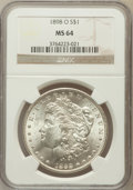 Morgan Dollars: , 1898-O $1 MS64 NGC. NGC Census: (30632/14210). PCGS Population(27092/13099). Mintage: 4,440,000. Numismedia Wsl. Price for...