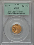 Indian Quarter Eagles: , 1927 $2 1/2 MS62 PCGS. PCGS Population (2632/5083). NGC Census:(4859/6764). Mintage: 388,000. Numismedia Wsl. Price for pr...