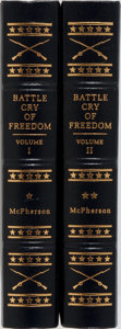 Books:Fine Bindings & Library Sets, [Easton Press]. James M. McPherson. The Battle Cry of Freedom. Norwalk: Easton Press, [n.d.]. Two octavo vo... (Total: 2 Items)