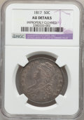 Bust Half Dollars: , 1817 50C -- Improperly Cleaned -- NGC Details. AU. NGC Census:(27/241). PCGS Population (61/227). Mintage: 1,215,567. Numi...
