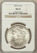 Morgan Dollars: , 1899-O $1 MS64 NGC. NGC Census: (23153/8598). PCGS Population(21066/8511). Mintage: 12,290,000. Numismedia Wsl. Price for ...