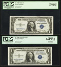 Error Notes:Major Errors, Fr. 1608 $1 1935A Silver Certificates. Two Examples.. ... (Total: 2notes)