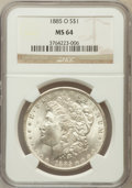 Morgan Dollars: , 1885-O $1 MS64 NGC. NGC Census: (79981/30998). PCGS Population(63493/19922). Mintage: 9,185,000. Numismedia Wsl. Price for...