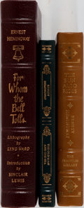 Books:Fine Bindings & Library Sets, [Easton Press and Franklin Library]. Three Titles by Ernest Hemingway: For Whom the Bell Tolls; The Old Man and the Sea;... (Total: 3 Items)
