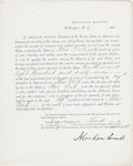 Autographs:U.S. Presidents, Abraham Lincoln Draft Document Signed....