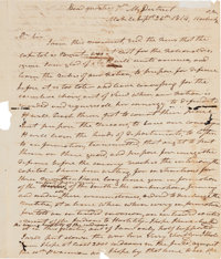 [Battle of New Orleans]. Andrew Jackson Autograph Letter Signed