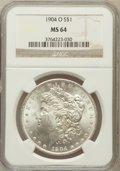 Morgan Dollars: , 1904-O $1 MS64 NGC. NGC Census: (58510/17212). PCGS Population(46367/11340). Mintage: 3,720,000. Numismedia Wsl. Price for...