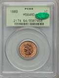 Indian Cents: , 1889 1C MS64 Red PCGS. CAC. PCGS Population (91/41). NGC Census:(63/31). Mintage: 48,869,360. Numismedia Wsl. Price for pr...