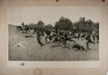 Books:Prints & Leaves, Frederic Remington. SIGNED. [Charge of the Rough Riders at SanJuan Hill]. [N.p.], 1898. 20.5 x 31 inches. Sig...