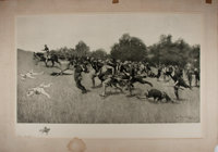 Frederic Remington. SIGNED. [Charge of the Rough Riders at San Juan Hill]. [N.p.], 1