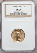 Modern Bullion Coins, 2004 G$10 Quarter-Ounce Gold Eagle MS70 NGC. NGC Census: (1239).PCGS Population (420). Numismedia Wsl. Price for problem ...