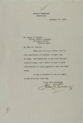 Autographs:Military Figures, John J. Pershing Typed Letter Signed....