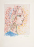 Prints:European Modern, PABLO PICASSO (Spanish, 1881-1973). Untitled, 1971. Offsetlithograph in colors. 20 x 15-1/4 inches (50.8 x 38.7 cm). Ed...