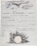 Autographs:U.S. Presidents, James Monroe Military Appointment Signed....