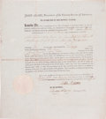 Autographs:U.S. Presidents, John Adams Letter of Marque Signed....