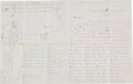 Autographs:Military Figures, [Battle of Spanish Fort]. Robert H. Crist Autograph Letter Signed with Hand Drawn Map....