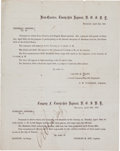 Autographs, [Abraham Lincoln]. Printed Order for Brooklyn Troops to EscortAbraham Lincoln's Funeral Procession....