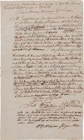 Autographs:Statesmen, William Williams¸ Signer of the Declaration of Independence,Document Signed,...