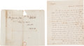 Autographs:Statesmen, John Breckinridge Autograph Letter Thrice Signed to Senator HenryClay,...