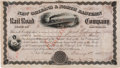 Autographs:Military Figures, James Longstreet Stock Certificate Signed,...