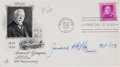 Autographs:Celebrities, Jimmie Hoffa First Day Cover Signed...