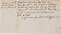 Autographs:Statesmen, Josiah Bartlett, Signer of the Declaration of Independence andArticles of Confederation, Note Signed,...