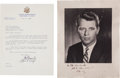 Autographs:Statesmen, Robert F. Kennedy Inscribed Photograph Signed.... (Total: 2 Items)