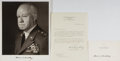 Autographs:Military Figures, Omar N. Bradley Typed Letter Signed. ... (Total: 3 Items)