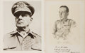 Autographs:Military Figures, Douglas MacArthur Inscribed and Signed Art Print.... (Total: 2 Items)