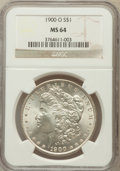Morgan Dollars: , 1900-O $1 MS64 NGC. NGC Census: (18212/7593). PCGS Population(16158/6747). Mintage: 12,590,000. Numismedia Wsl. Price for ...