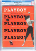 Magazines:Miscellaneous, Playboy V1#4 (HMH Publishing, 1954) CGC FN/VF 7.0 White pages....