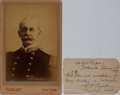 Autographs:Military Figures, Charles D. Sigsbee Cabinet Photo.... (Total: 2 Items)