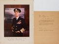 Autographs:Military Figures, Ernest J. King Signed Photo... (Total: 2 Items)