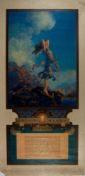 Books:Prints & Leaves, Maxfield Parrish. Ecstasy. Color Lithograph for Edison MazdaLamps. [N.p., 1930]. With calendar. Approximately 38.5 ...