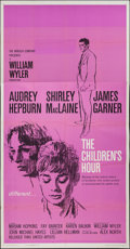 "Movie Posters:Drama, The Children's Hour (United Artists, 1962). Three Sheet (41"" X78""). Drama.. ..."