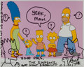 Books:Prints & Leaves, Matt Groening. SIGNED AND INSCRIBED. Simpsons Publicity Still, withOriginal Artwork by Groening. [Los Angeles]: 1993. Wit...