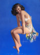 ROLF ARMSTRONG (American, 1889-1960) Twinkle Toes, 1947 Pastel on masonite 40 x 29 in. Signed lower center
