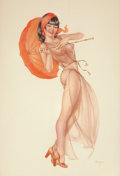 Pin-up and Glamour Art, ALBERTO VARGAS (American, 1896-1982). Oriental Beauty, Playboypin-up, circa 1970s. Watercolor on paper. 27 x 18.5 in.. ...