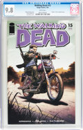 Modern Age (1980-Present):Horror, Walking Dead #15 (Image, 2005) CGC NM/MT 9.8 White pages....