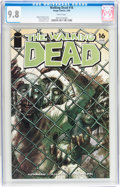 Modern Age (1980-Present):Horror, Walking Dead #16 (Image, 2005) CGC NM/MT 9.8 White pages....
