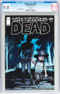 Modern Age (1980-Present):Horror, Walking Dead #49 (Image, 2008) CGC NM/MT 9.8 White pages....