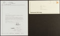 Boxing Collectibles:Autographs, Muhammad Ali Signature On Letter. ...